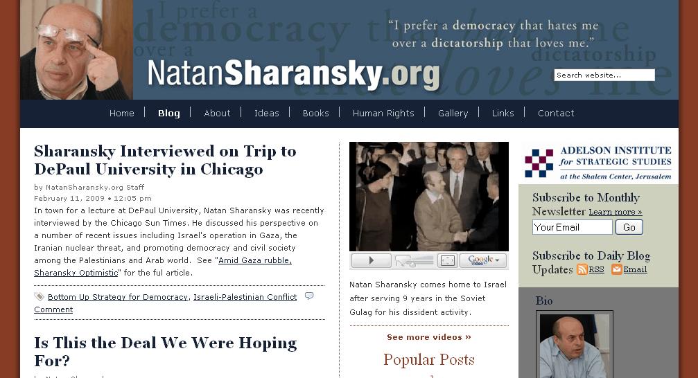 Natan Sharansky website