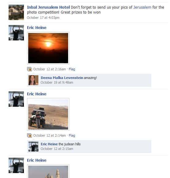 Inbal Hotel Facebook photo contest
