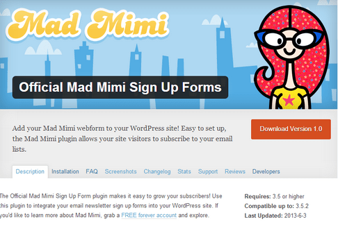 illuminea creates official WordPress plugin for Mad Mimi