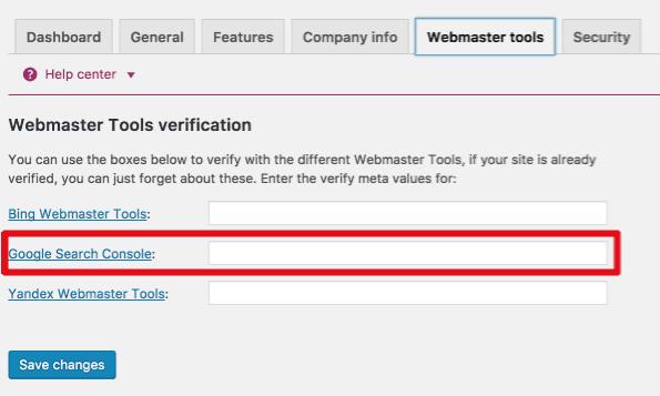 Verifying site in GSC with meta headers in Yoast's SEO WordPress plugin